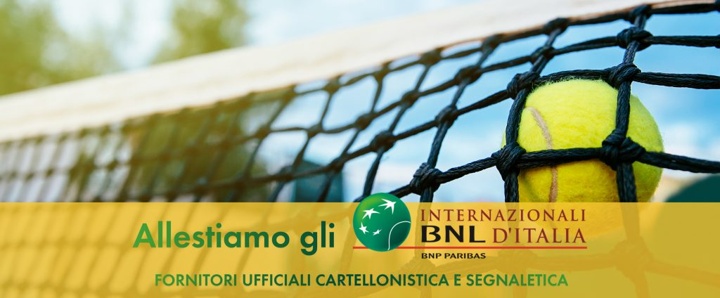 Affissioni APA allestimento Internazionali BNL Italia Roma