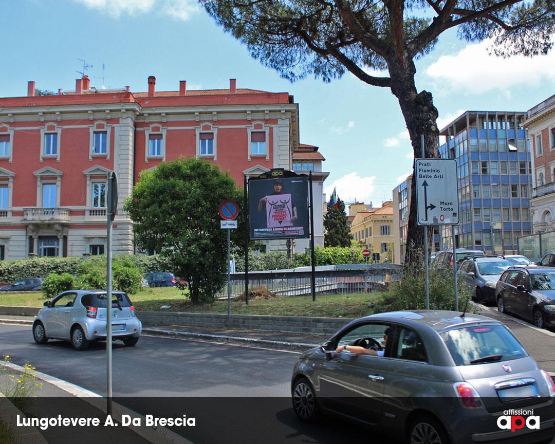 Affissione APA 2x2 su Lungotevere A. Da Brescia, con la pubblicità dei Radicali.