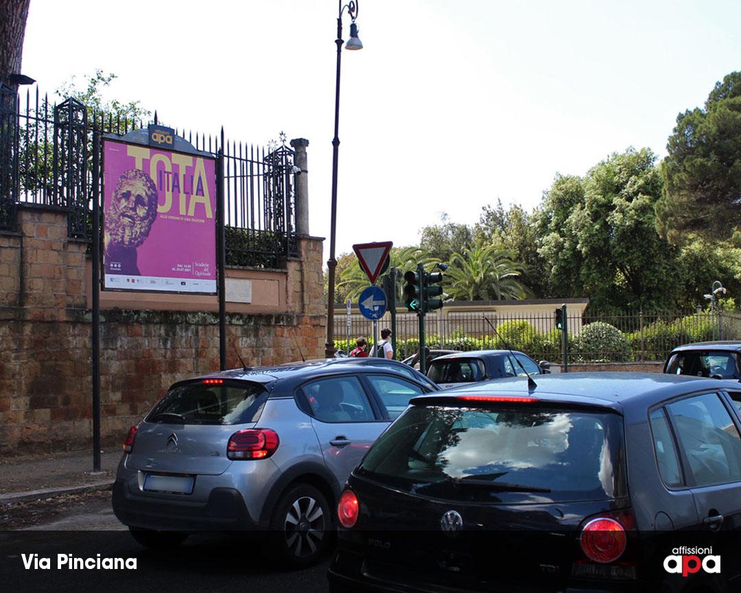 Pubblicità di Scuderie del Quirinale su Affissione APA 2x2 in Via Pinciana a Roma.