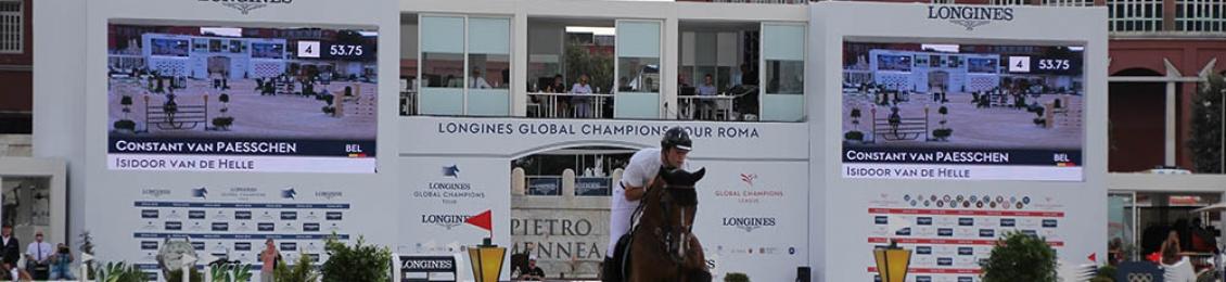 Allestimento Longines Global Champions Tour 2018